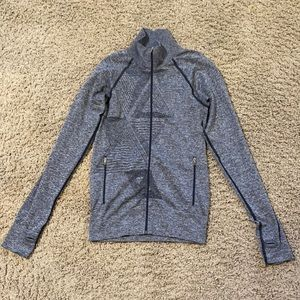 Oiselle Zip Up Jacket Small Gray